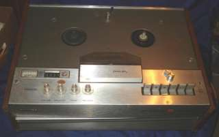 Vtg Philips Stereo 4 Track Reel to Reel Tape Recorder Player
