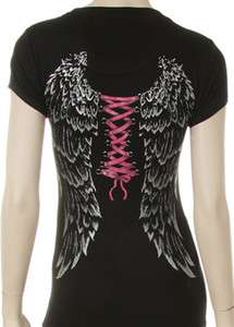 Angel Wings with Corse Tie Shirt