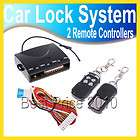 Car Remote Central Lock Kit Locking Keyless Entry System with Remote