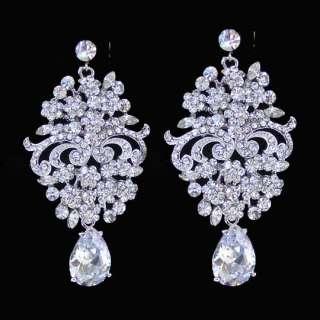 Clear Victorian Style Bridal Wedding Pave Swarovski Crystal Chandelier