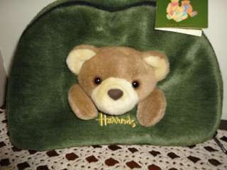 Knightsbridge Dungaree Bear Stuffed Plush Purse / Carrying Case RARE