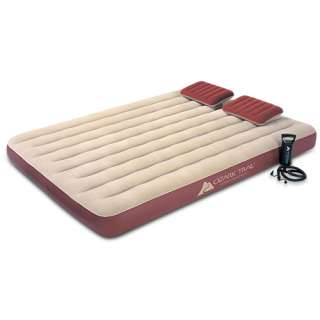 Ozark Trail Queen Size Velour Top Air Bed With Pillows & Pump Camping