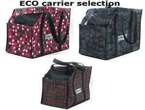 ECO Dog cat Carrier Tote Bag 8Wx14Lx9H recyled fibers pets to 25 Lb