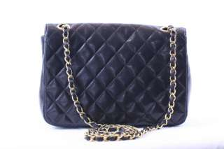 RARE CHANEL LAMB QUILTED Gold CHAIN Crossbody BAG PURSE VINTAGE Round