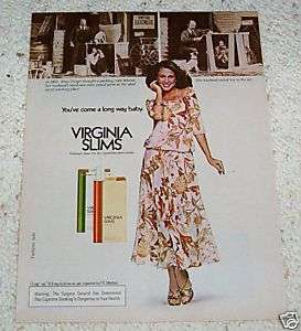 1979 ERIN GRAY smoking   Virginia Slims Cigarettes AD