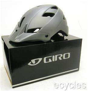 Giro FEATURE Mountain Bike Helmet Matte Titanium Icon LARGE MSRP $75
