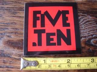 10 FIVE TEN Rock Climbing Shoes STICKER Decal NEW