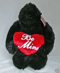DAN DEE SOFT EXPRESSIONS Plush Gorilla Holding Heart