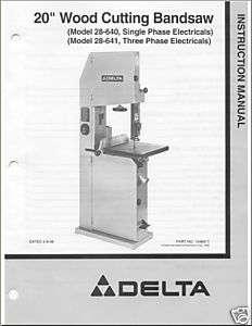 delta 10 band saw manual