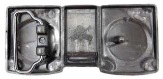 Gunmetal Finish Dual Turntables Belt Buckle DJ Deejay