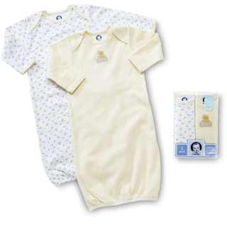 Gerber   2 Pack Infant Gowns   Newborn Girl or Boy Clothing
