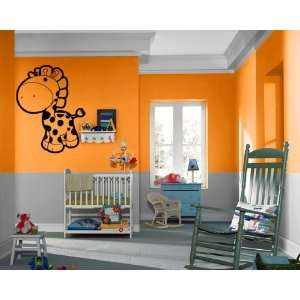 Cute Cartoon Giraffe Kids Room Nursery Decor Wall Mural Vinyl Decal