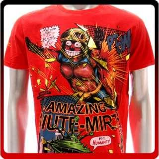 m160 Minute Mirth T shirt Sz M L Tattoo Robot Skull Rock Street Punk