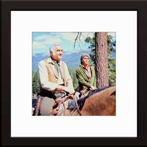 Lorne Greene Michael Landon) Total Size 20x20 Inches Home & Kitchen