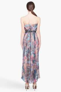 Haute Hippie Strapless Belted Maxi Dress for women