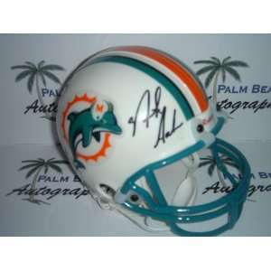Nick Saban signed Miami Dolphins Mini Helmet