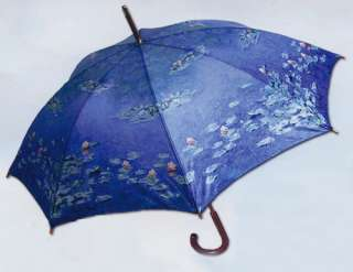 Monet Water Lilies  Auto Opening Stick Umbrella