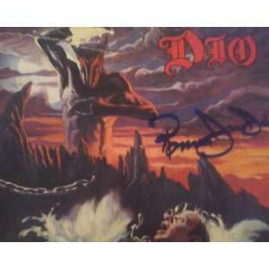 Record Album Lp W/COA Hand Signed By Ronnie James Dio