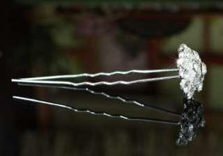 pcs X Bridal Wedding Flower Crystal Hair Pins P1150