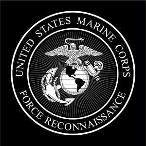 USMC MARINES FORCE RECON T SHIRT BLACK ** M XXXL **