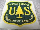 PAIR CUSTOM U.S. FORESTRY VINYL PEEL STICK DECAL