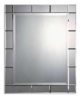 Contemporary Rectangular Silver Frameless Wall Mirror