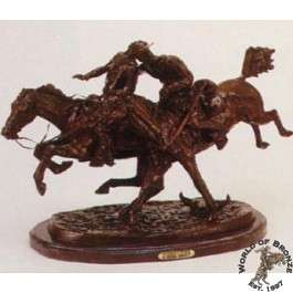 WOUNDED BUNKIE by Frederic Remington Bronze Handcast Sculpture w