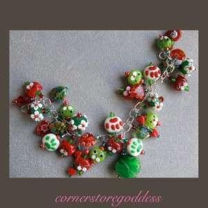 Cornerstoregoddess Christmas Kitty Cat Charm Bracelet
