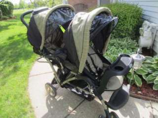 Graco Duoglider Double Infant Baby Stroller Car Seats & Base Twins