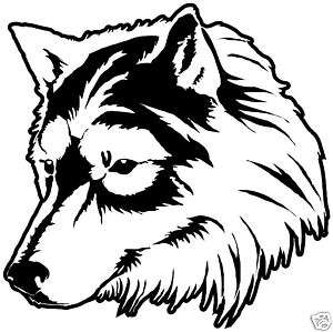 Wolf Head Car,Bike,Truck, Window, sticker graphic decal