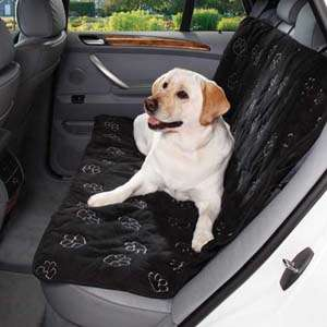Pet Edge Black Paw Print Cruising Car Seat Cover 721343399254