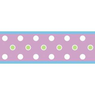 Room Mates Studio Designs Dot Wall Border in Purple Kids