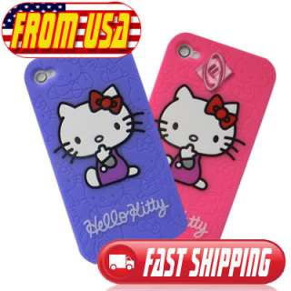 Cute Hello Kitty Home Button Sticker for iPhone iPad iPod 1 2 3 4 G 4S