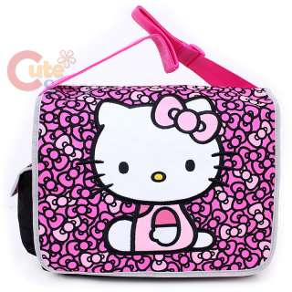 Sanrio Hello Kitty School Messenger Bag Black Pink Bows Diaper Bag
