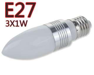 E27 3w Pointed Steep Light Led Candle Light Purple Color 180  240V