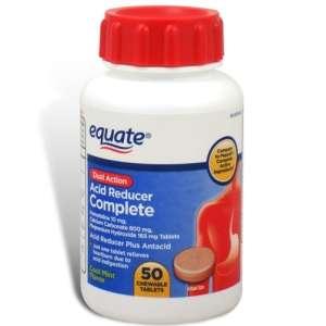 Acid Reducer Complete, 50 Chewable Tablets   Equate
