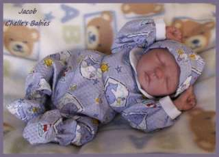 Reborn Vinyl Doll Kit Baby JACOB Peach Jessica Schenk