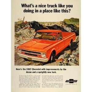 1967 Ad Chevrolet Chevy Truck Pickup 6 Cylinder V8 Work