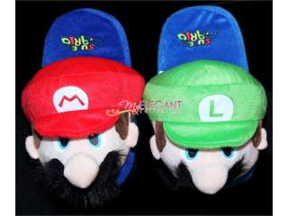 Nintendo Super Mario Brothers Luigi Plush 11 Slippers