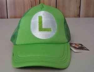 SUPER MARIO BROS LUIGI HAT TRUCKER COSPLAY COSTUME NEW