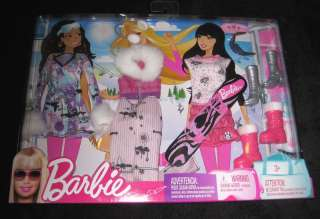 MATTEL BARBIE   Age 3+ Set of 3 Winter Sports Outfits DOLL CLOTHES