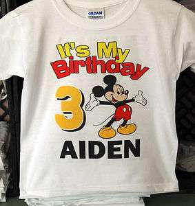Personalized Its My Birthday Mickey Mouse Birthday T Shirt