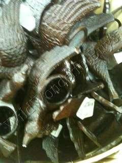 BARN S/4 Lg Carved Metal Bird NAPKIN RINGS Angel Wings NEW