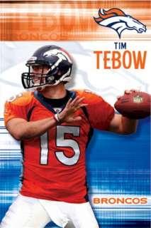 FOOTBALL POSTER ~ DENVER BRONCOS TIM TEBOW THROW NFL