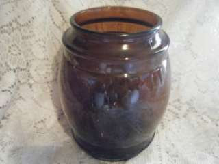 Vintage Brown Siesta Ware Glass Cookie Jar/Canister~NR~
