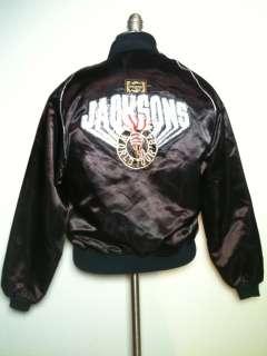 MICHAEL JACKSON JACKSONS WORLD TOUR 1984 Black Satin PEPSI TOUR JACKET