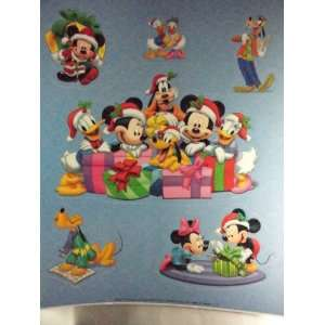 Mickey Mouse Static Cling Window Decoration   Christmas Theme