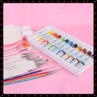 nail art pallete color white pink 100 % brand new 12 high quality