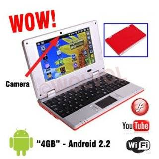 ANDROID RED 7 Mini Laptop Notebook Netbook PC WiFi TONS of Apps Games