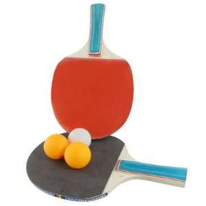 Ping Pong Paddles Table Tennis Rackets Bats Red Blue w 3 Plastic Balls